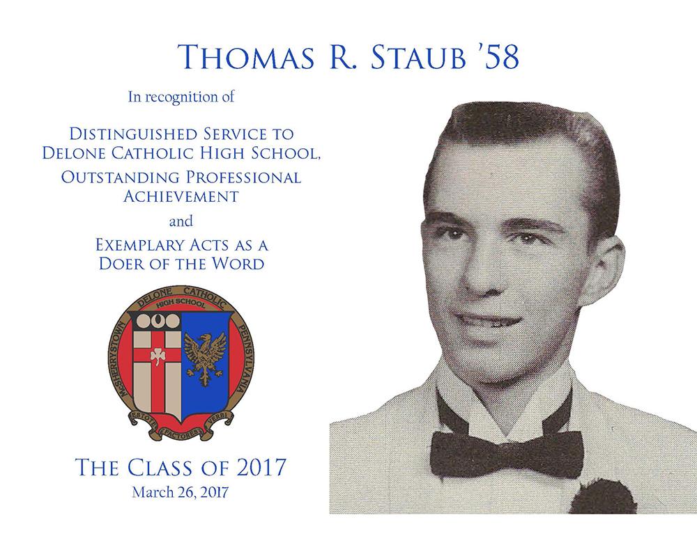 Thomas R. Staub '58 Plaque