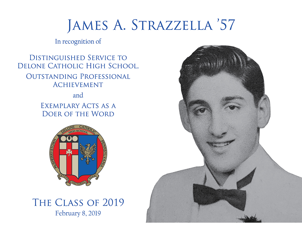 James A. Strazzella '57 Plaque