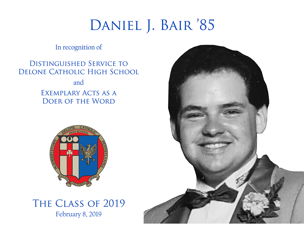 Daniel J. Bair '85 Plaque