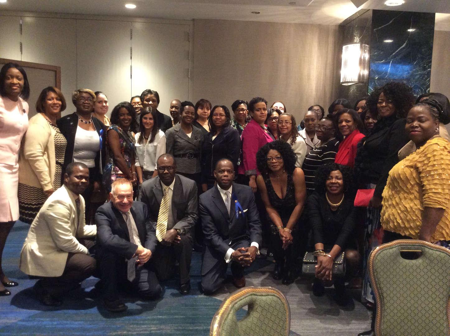 Staff at UFT Collaboration Award Reception