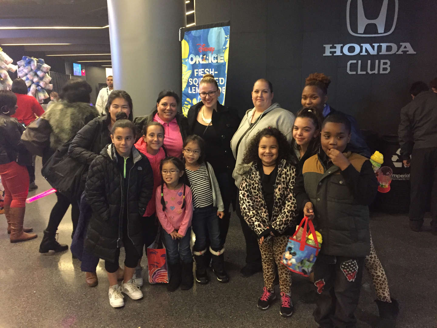 Disney on Ice with the families