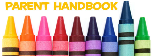 Parent Handbook with crayons