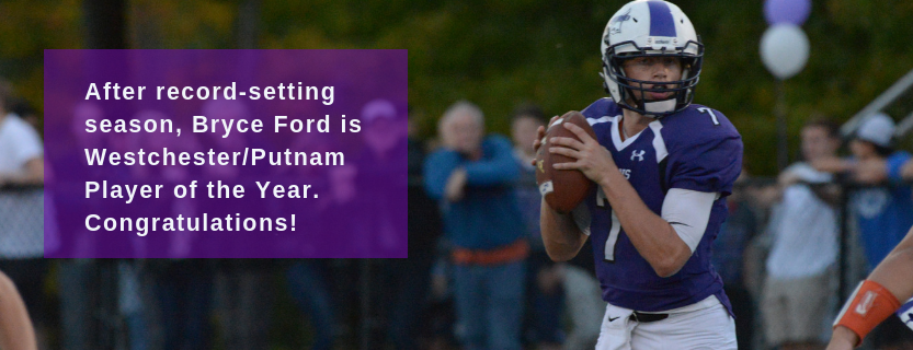 Ford was honored as the first-ever Player of the Year by Section 1's coaches.
