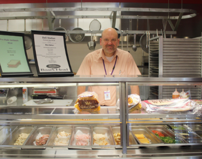 Andy Waild, the food service director,