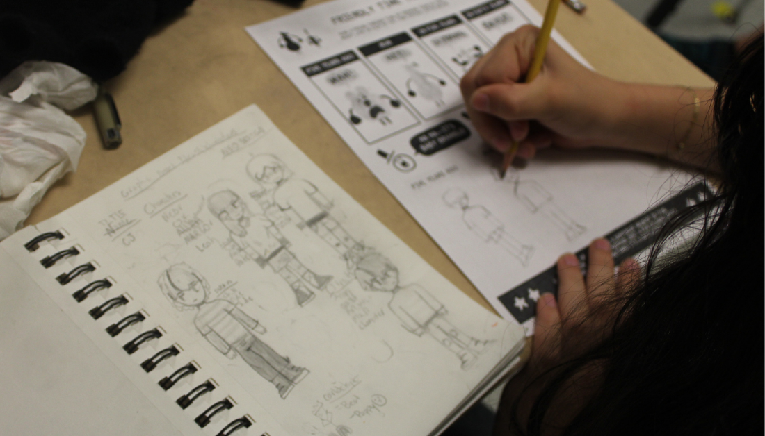 Capture ideas in a sketchbook