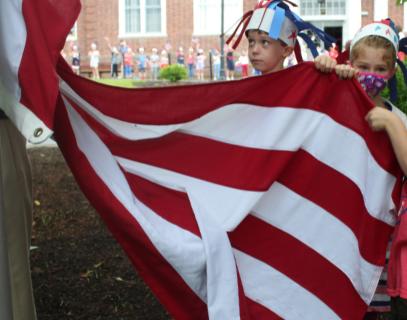 hosting the flag