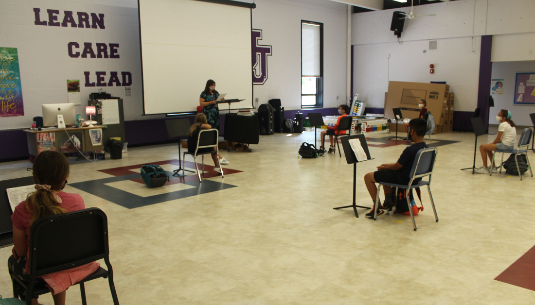middle school band room