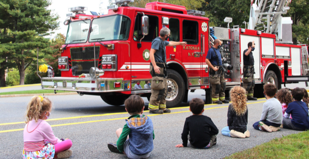 a visit from Katonah Fire Department