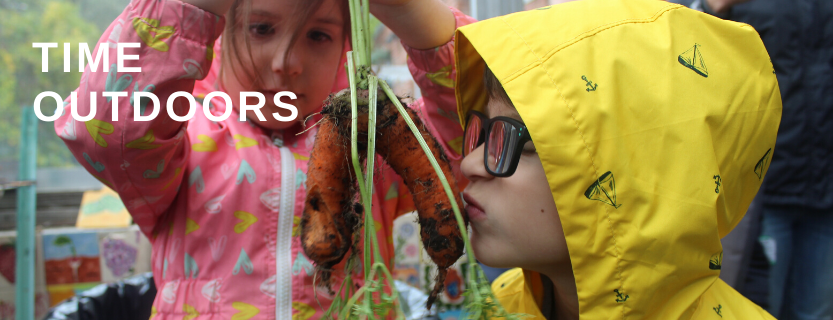 Time outdoors and garden-education are integrated into all KLSD elementary school students' days.
