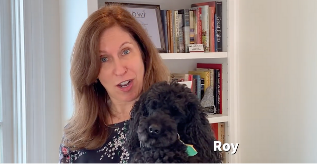 Lauren Tarshis and her dog Roy