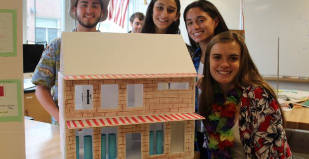 Environmental Physics students design passive solar homes.