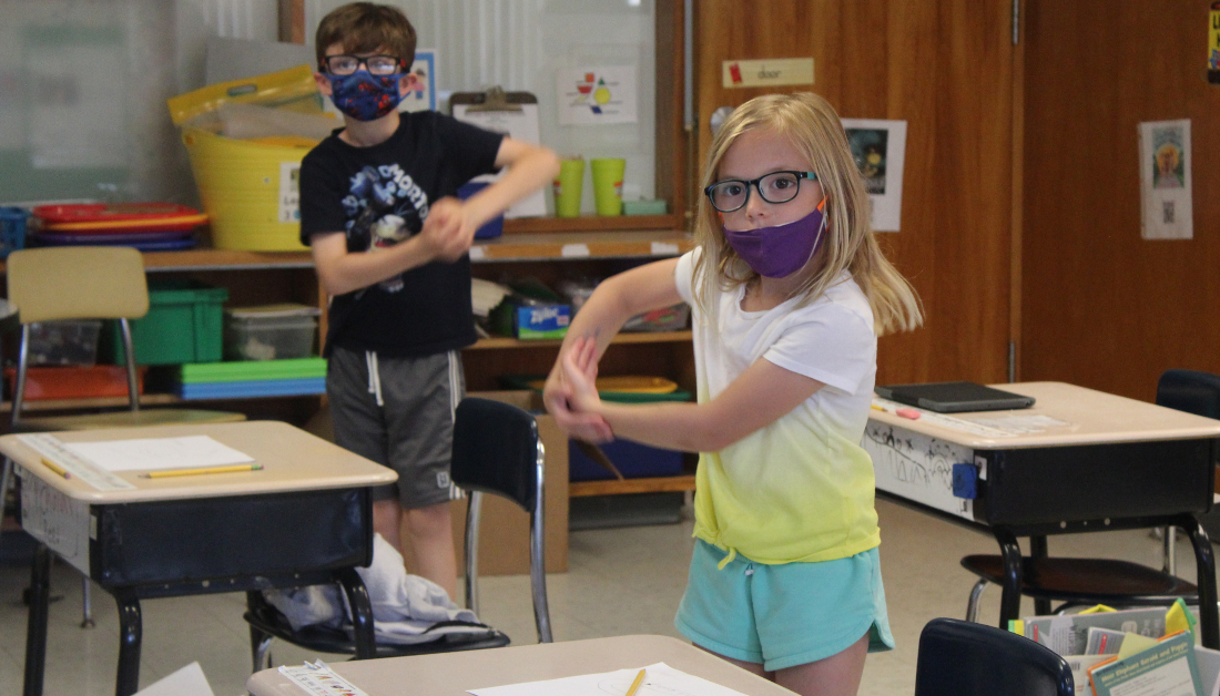 using movement to learn the parts of a seed