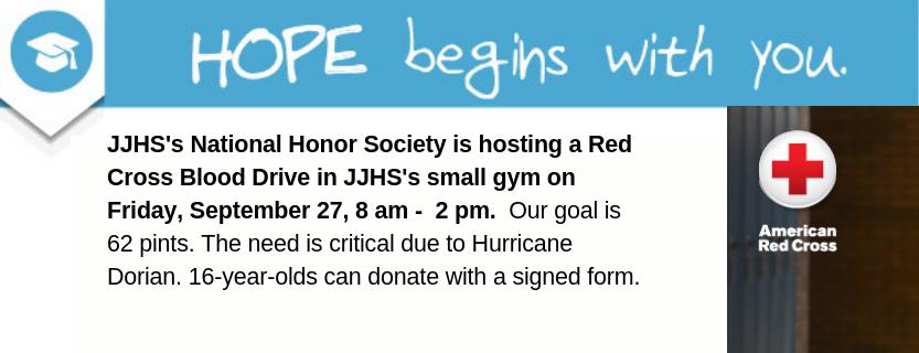 Blood drive at JJHS.