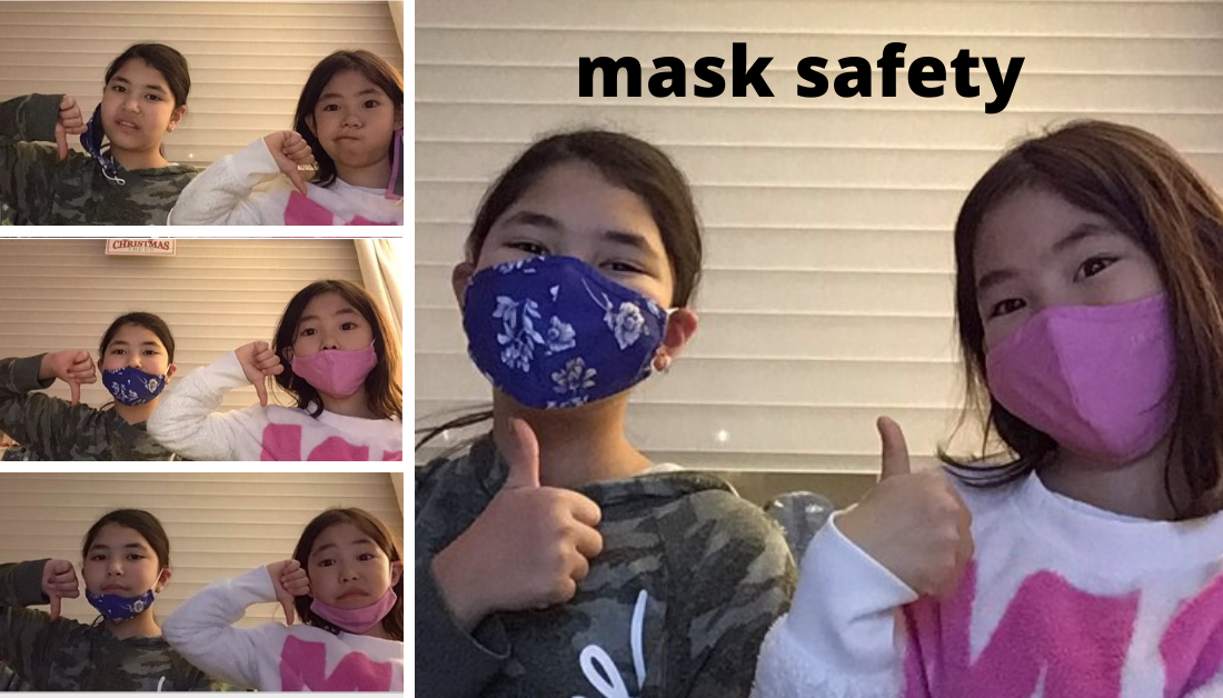 thumbs up for wearing masks correctly