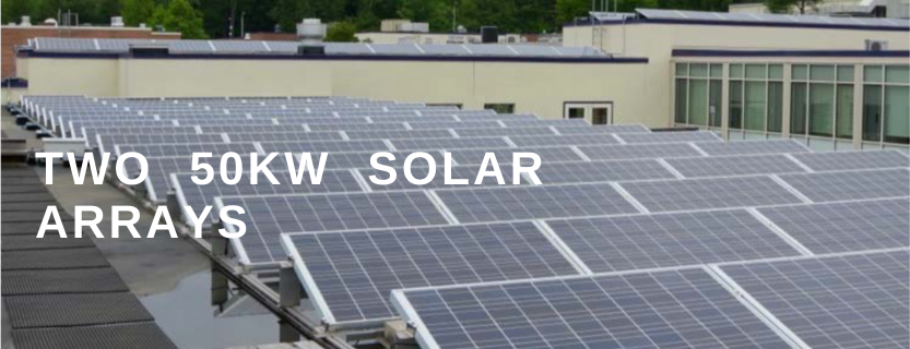 Solar on the high school and middle school generate power.