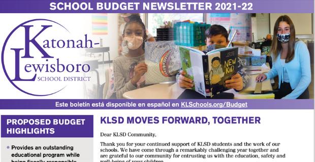 District budget newsletter