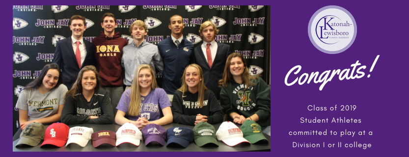 Seniors signing Letters of Intent.