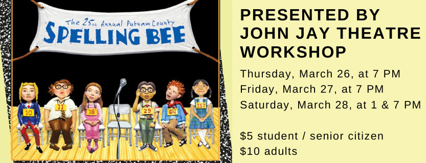 """""""The 25th Annual PutnamCounty Spelling Bee"""" at JJHS  March 26 - 28"""