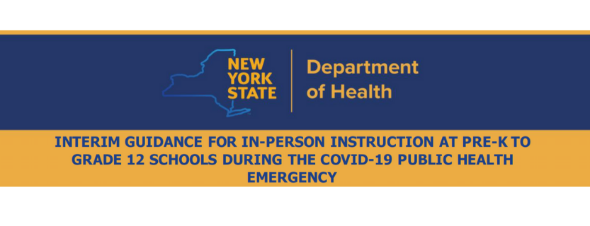 Interim Guidance for In-Person Instruction at Pre-K to Grade 12 Schools during the COVID-19 Public Health Emergency