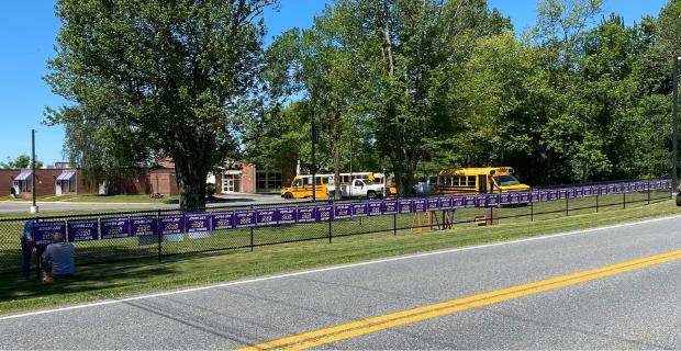 congrats signs line route 121
