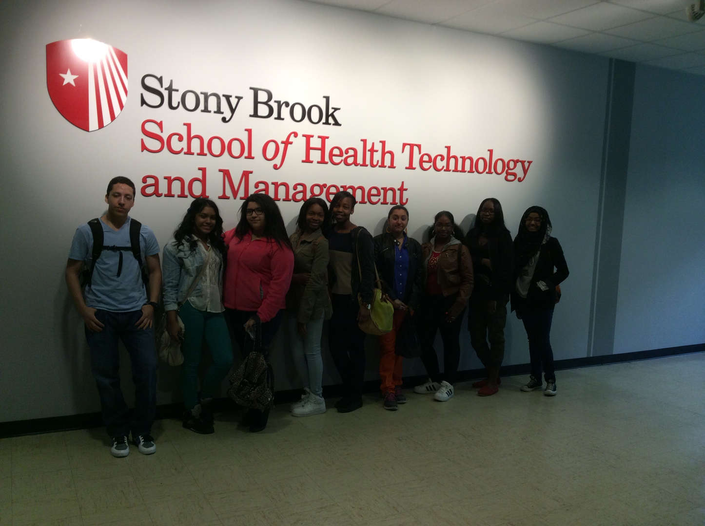 Health Sciences students visit Stony Brook University