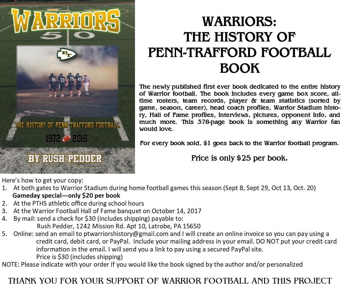 The History of Penn-Trafford Football Warriors flyer