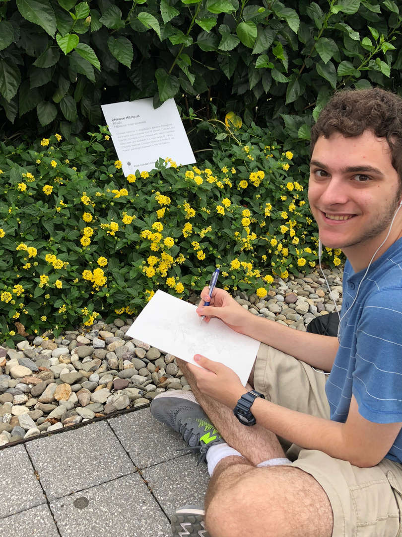 New Rochelle High School art students drew inspiration from plants and Georgia O'Keeffe paintings at the New York Botanical Garden