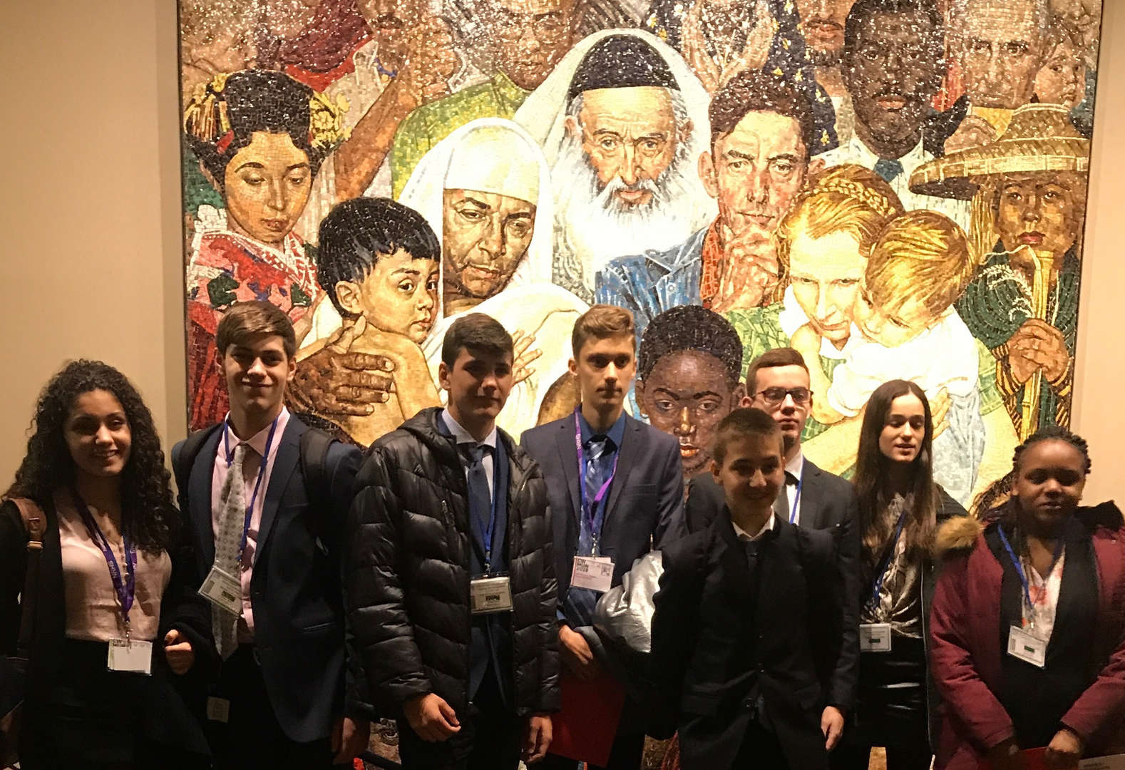 New Rochelle High School Model UN Club at the real UN