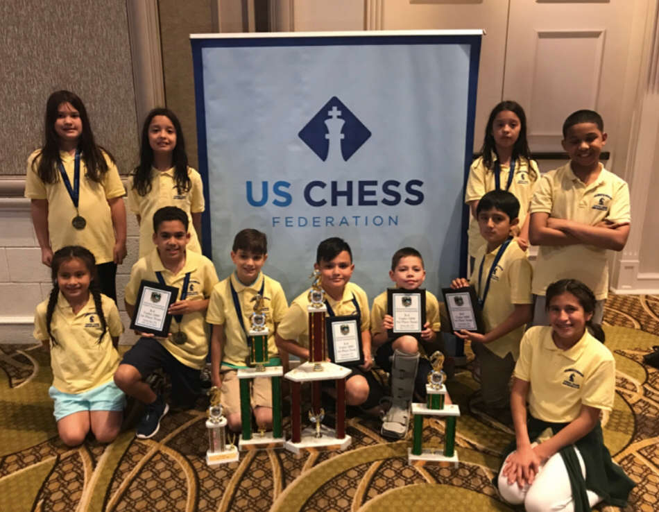 Members of the Columbus School Chess Club