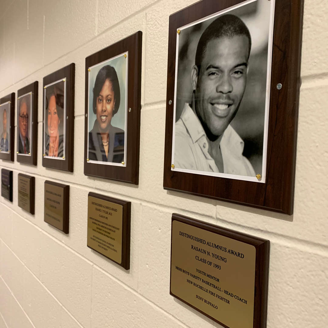 Wall of Fame in New Rochelle High School