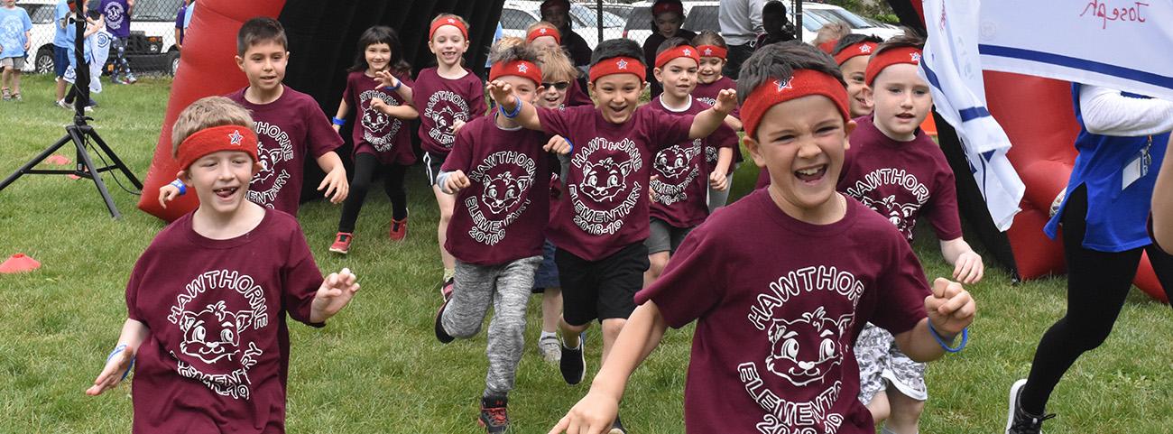 Students participate in Fun Run.