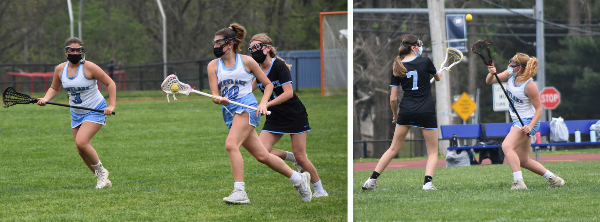 montage of girls playing lacrosse