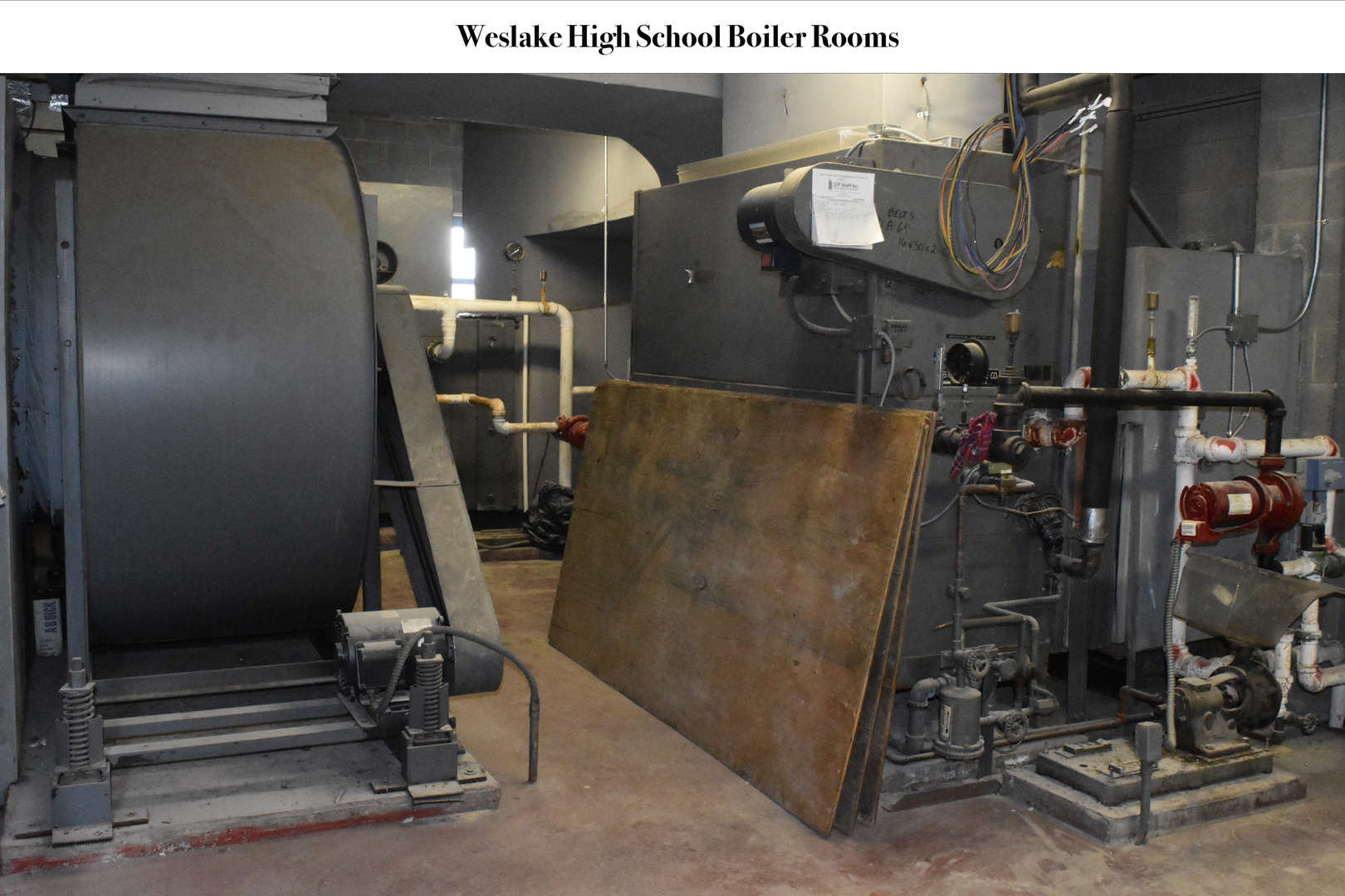 WHS Boiler Room before renovation