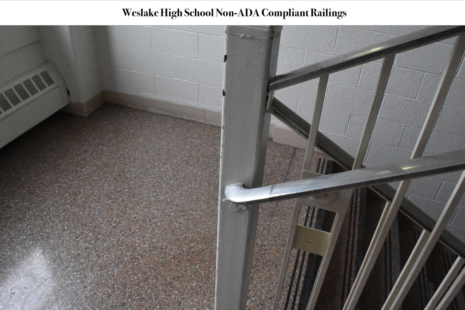 Handrails in WHS stairwells