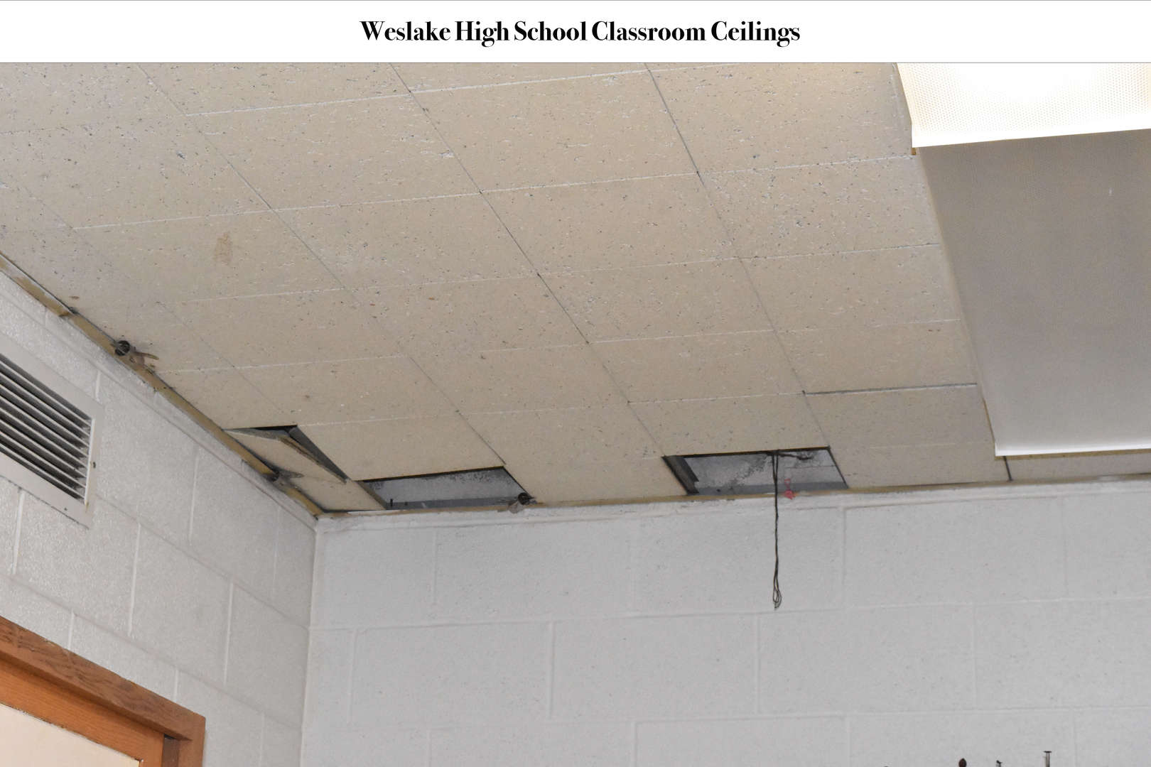 WHS Ceilings with tiles missing
