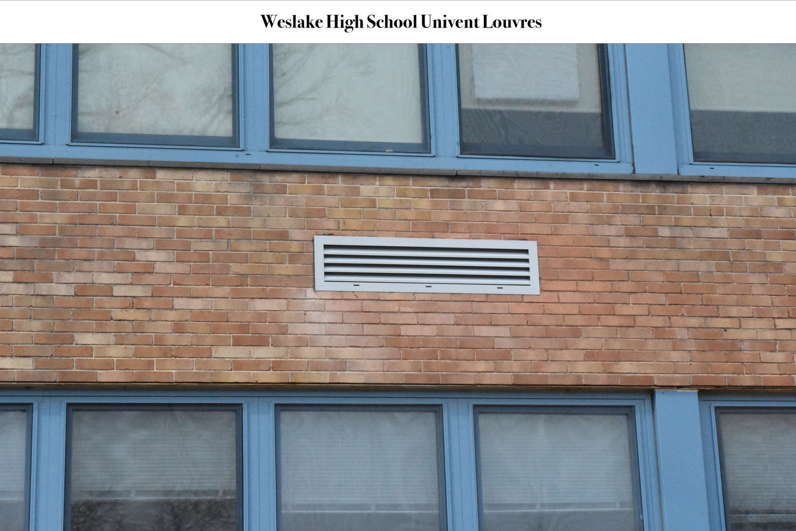 WHS Univent Louvres on outside of school