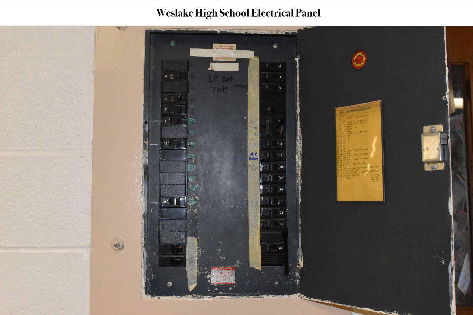 WHS Electrical Panel switchboard