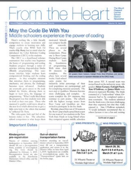 Cover of Winter 18-19 newsletter
