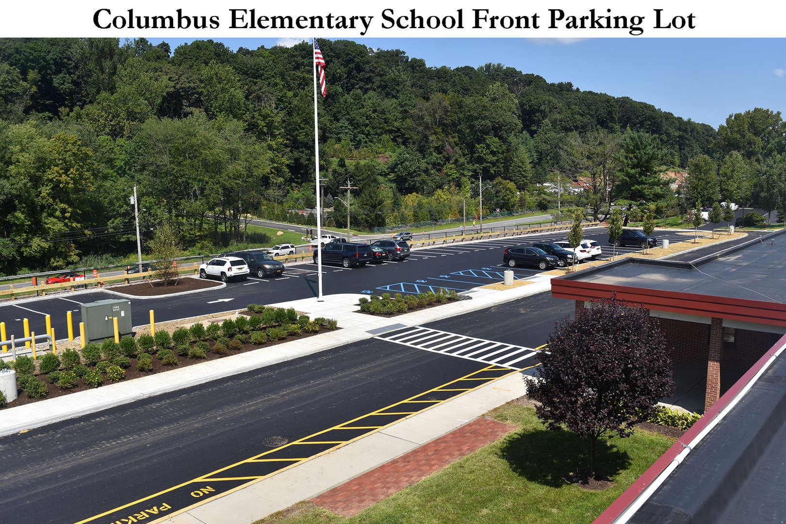 View from roof of new parking lot at Columbus Elementary