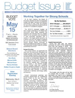 Cover of 2018 Budget newsletter