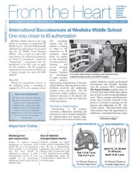 Cover of winter 2017-18 newsletter