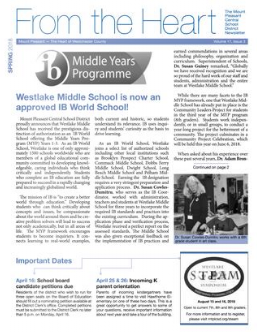 Cover of Spring 2018 newsletter