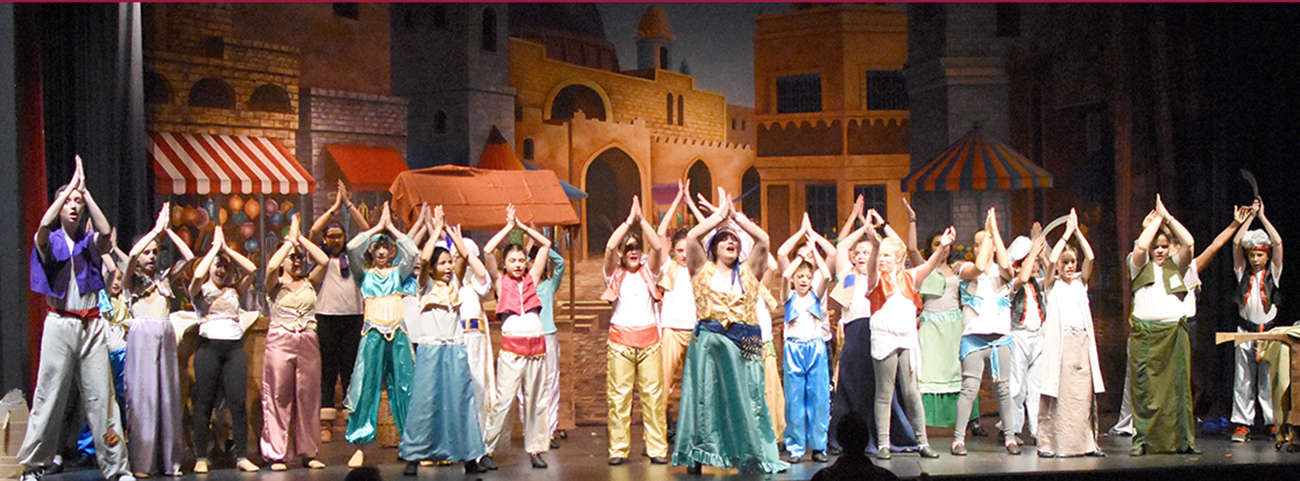 "Westlake Middle School presents ""Aladdin Jr."""