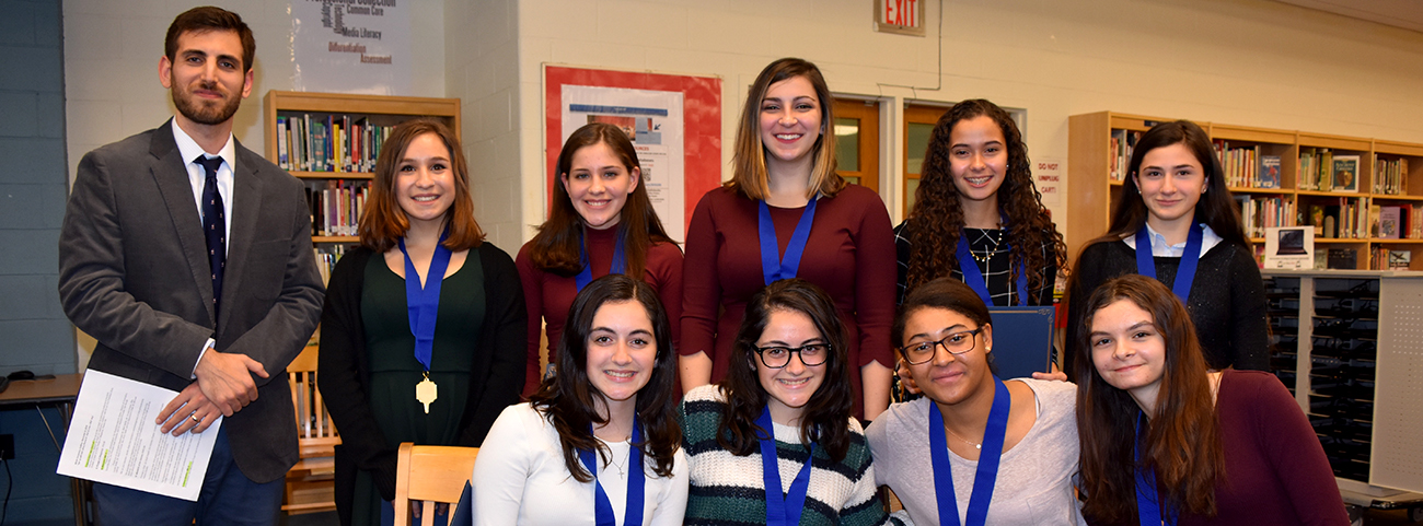 9 new inductees to the English Honor Society
