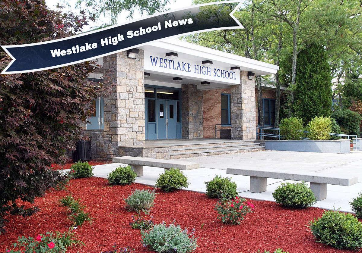 Front entrance of Westlake High School