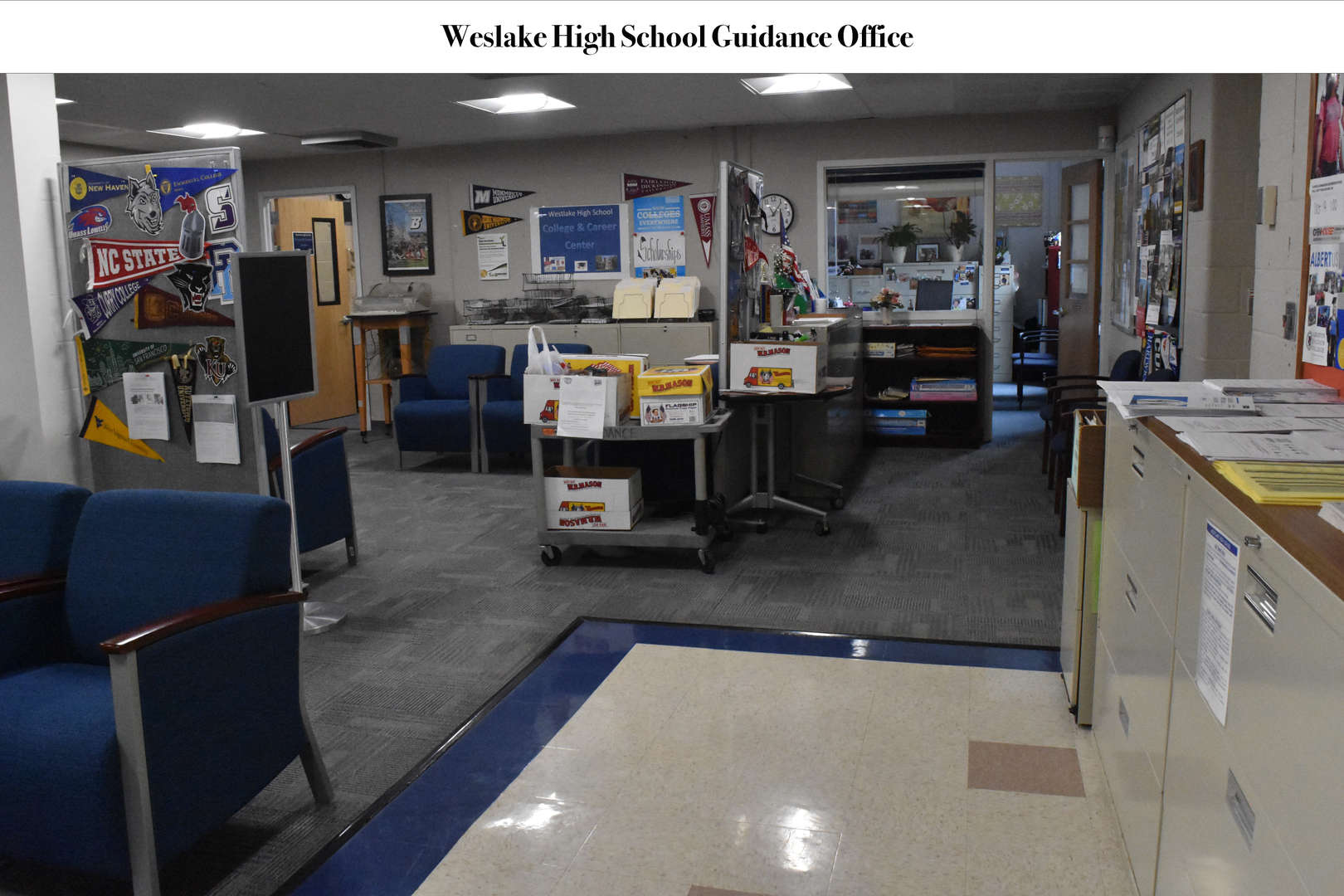 WHS Guidance office reception area