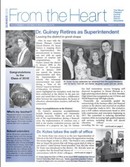 Cover of Summer 2018 newsletter