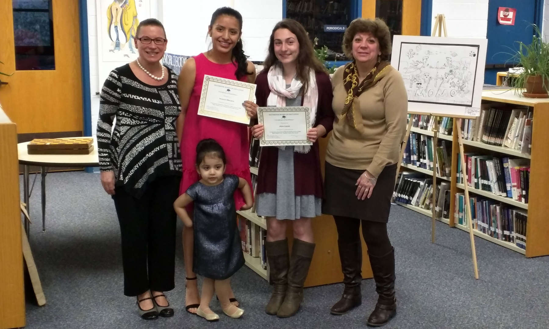 Olivia Fabrizi and Damarys Nicol Jara are the two students selected by the high school faculty to receive the CABE Student Leadership Awards this year.