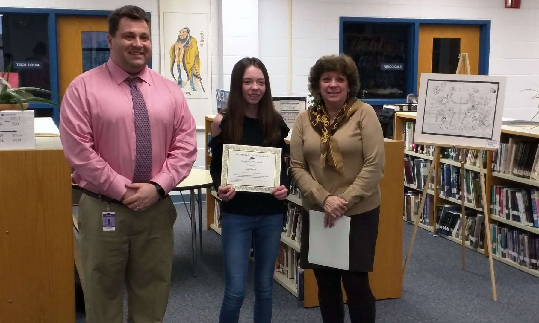 Jamie S. was one of two Middle School students to receive the CABE Student Leadership Award.