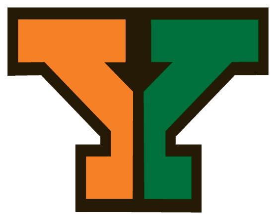 Orange and Green Letter Y Yough Logo
